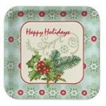 Holly Collage Banquet Plates, Square - 96 per case Product # :436909 $42.96