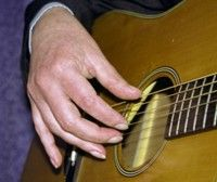 A good right hand position for fingerstyle guitar playing. http://www.fingerstyle.co.uk/technique