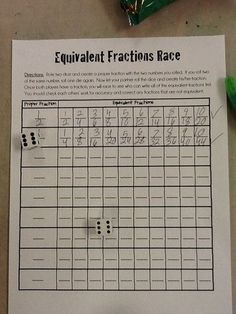 .equivalent fractions race game
