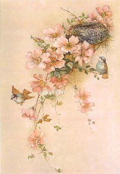 MI BAUL DEL DECOUPAGE: FLEURS VINTAGE...PARA ISABEL  Peach floral