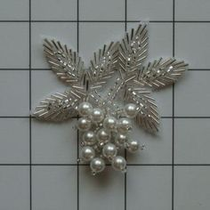 12 Pearl Beaded Appliques