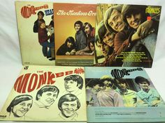 Monkees Vinyl Record Lot of 5 Record Albums - S/T Headquarters Then and Now etc