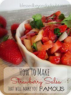 The BEST strawberry breakfast salsa recipe! It's wonderful!