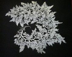 White Fractal by Magda Boreysza  #silkscreen #screenprint #printmaking