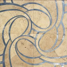 Really *love* this mix of travertino and metal for flooring by STILE.