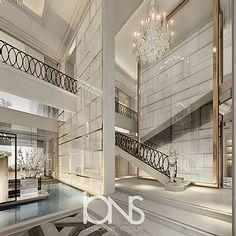 IONS DESIGN | Villa Interior Design | Bedroom Interior Design Interior Design Dubai, Interior Design Companies, Interior Architecture, Interior Designing, Villa Design, House Design, Gym Design, Dining Room Design, Design Bedroom