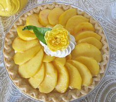 The flavor of the almond cream filling is outstanding in this fresh peach pie.