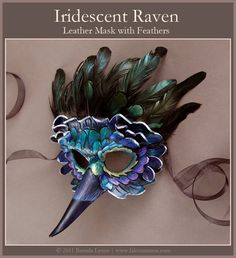 Iridescent Raven Leather Mask by *windfalcon on deviantART
