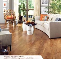 I love the colors and feel of this room.  Somerset hickory flooring love this floor!