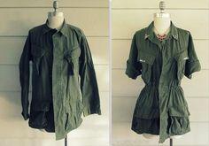 transformer ses vieux vêtements veste militaire DIY vêtements