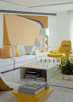 yellow and white decor