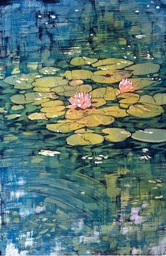 Water Lilies Original Fine Art Batik by TerriHaugenArt on Etsy, $3,200.00
