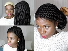 How To Do Big Cornrows Wig Method [Video] - Black Hair Information Cool Braids, Braids Wig, Ghana Braids, African Braids, Black Hairstyles With Weave, Weave Hairstyles, Cornrows With Extensions, Weave Extensions, Lace Front Wigs