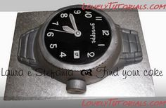 Men's Watch cake tutorial