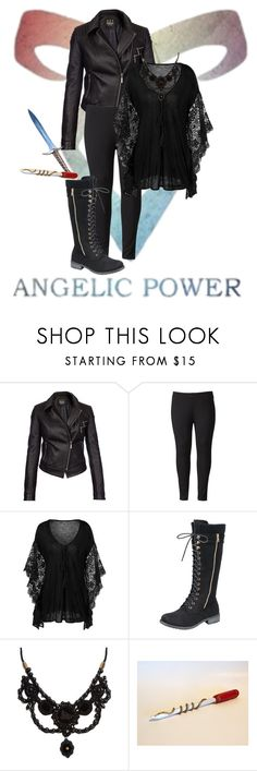 """""""shadowhunter"""" by pineapplesyay ❤ liked on Polyvore featuring Barbour International, Simply Vera and Gucci"""