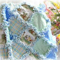 Baby Rag Quilt Winnie the Pooh-love this except the rag part. Not a big fan of rag quilts.
