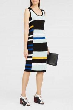 PROENZA SCHOULER Striped Stretch-Knit Dress. #proenzaschouler #cloth #