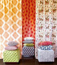 John Robshaw fabrics.