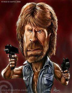 Caricatures of Celebrities ...chuck norris
