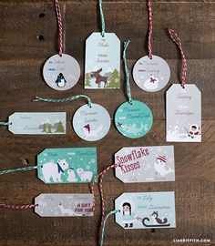 Polar/Arctic free printable gift tags and wrapping paper by Lia Griffith