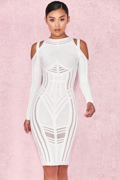 Victoria White Bandage Dress