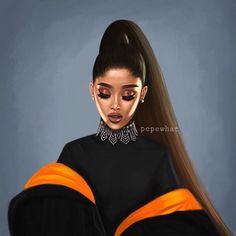 in this drawing i think that she look like Rihanna