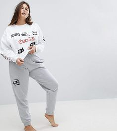 Browse online for the newest ASOS CURVE LOUNGE Coca Cola Jogger styles. Shop easier with ASOS' multiple payments and return options (Ts&Cs apply). Womens Clothing Stores, Plus Size Womens Clothing, Clothes For Women, Plus Size Sportswear, Plus Size Activewear, Coca Cola, Coke, Asos Plus, Plus Size Sleepwear