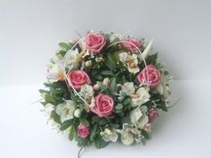 White and soft pink roses