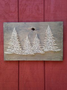 Pine Tree String Art Trees Woods Outdoors by CrookedTreeTraders