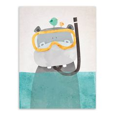 Современная Nordic Kawaii Животные Медведь Бегемот Пингвины Печати Плакатов Детская Wall Art Картина Холст Картина Без Рамки Детская Комната Декор купить на AliExpress