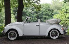 VW Beetle cabriolet in wonderful white
