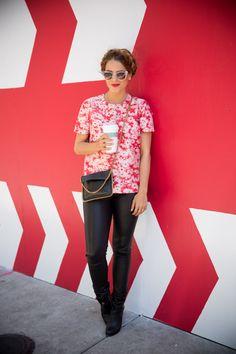 Stella McCartney Top (on sale), Helmut Lang Pants, Rag & Bone Booties, Stella McCartney Bag, Thierry Lasry Sunglasses Leather pants… City Style, Style Me, Fashion Moda, Women's Fashion, Leather Fashion, Fashion Trends, Beautiful Outfits, Cute Outfits, Vogue