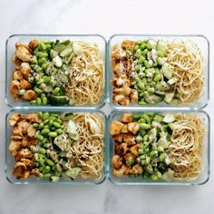 Sesame Noodle Bowls Meal Prep Sesame Noodle Bowls Forktwirly noodles an easy creamy sesame sauce perfect browned chicken and all the veg YUM Healthy Meal Prep, Healthy Snacks, Healthy Recipes, Dinner Healthy, Meal Prep Cheap, Meal Prep Salads, Easy Lunch Meal Prep, Meal Prep Keto, Simple Meal Prep