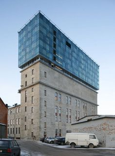 The former cellulose factory in to the Fahle House. KOKO Architects. Tallinn, Estonia