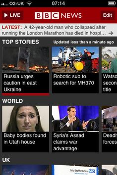 What always impresses me about the BBC news app is the speed at which it loads and uploads/updates with new information, even over relatively fragile signals.