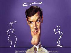 Caricatura de Roger Moore