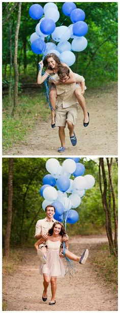 photography inspiration for couples with balloons in a field #couples #photography #pictures #lake #beautiful #blue #engagement www.Lisa-Marie-Phtoography.com