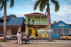 Dominican Republic Puerto Plata San Felipe de Puerto Plata Victorian gingerbread buildings surrounding Park