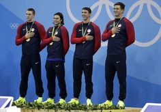 Michael Phelps wins gold in last Olympic race in Men's 4x100m relay