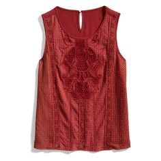 Stitch Fix: Love the scoop neck, straight hemline and embroidery detail of this top. Does it come in colors that would be better for someone with a cool skin tone?