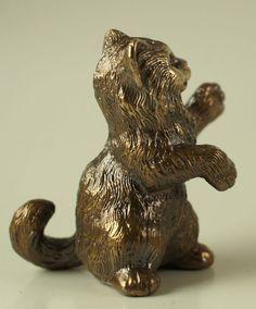 Solid Bronze Cat miniature by N.Fedosov.   eBay