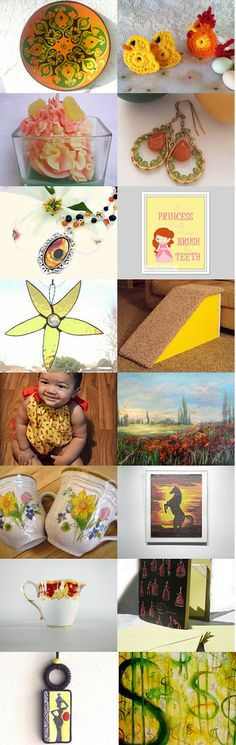Bright and Shiny Monday! by Michele on Etsy--Pinned with TreasuryPin.com #etsy #etsyRMP #PayItForward