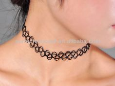 #choker necklace, #Tatto Choker Necklace, #cheap cord necklace
