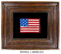 Antique Remember the Maine 13 Star Parade Flag