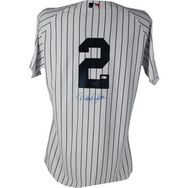 Derek Jeter Autographed Yankees Authentic Home Jersey w/ Inaugural Season & 2009 WS Patches