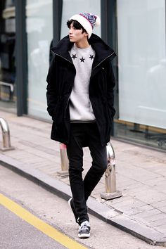 Men's winter fashion #menstyle #mensfashion #koreanfashion