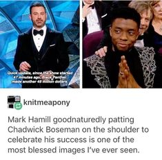 Bless them both! #blackpanther #marvel #chadwickboseman #tchalla #starwars #markhamill #lukeskywalker