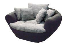 #Sessel #schwarz - Extravagante Polstergarnitur in trendiger Form. Mit losen…