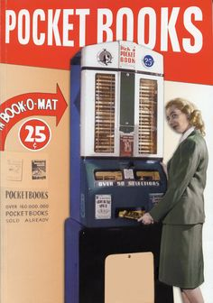 A Brief History of Book Vending Machines - There are lots of reasons why a white elephant technology doesn't catch on. Sometimes the technology is ahead of its time. In other cases, no amount of time can make a misguided technology useful or attractive. Then there's vending machines that sell books.