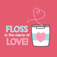 Dentaltown – Floss in the name of love! Show your smile some love by remembering… - Cuidado Bucal Humor Dental, Dental Quotes, Dental Hygiene, Oral Health, Dental Health, Dental Fun Facts, Holistic Dentist, Dental Images, Dental Life